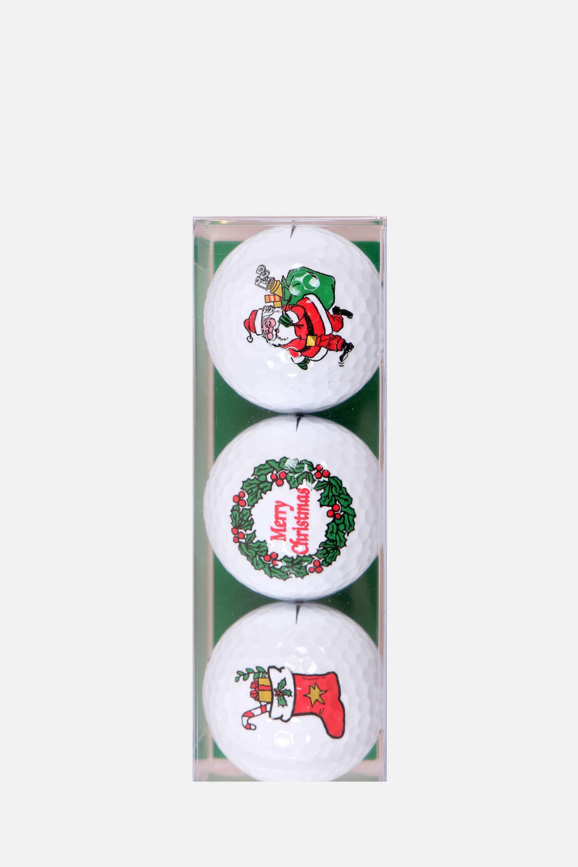 Golfbälle mit Weihnachtsmotiven