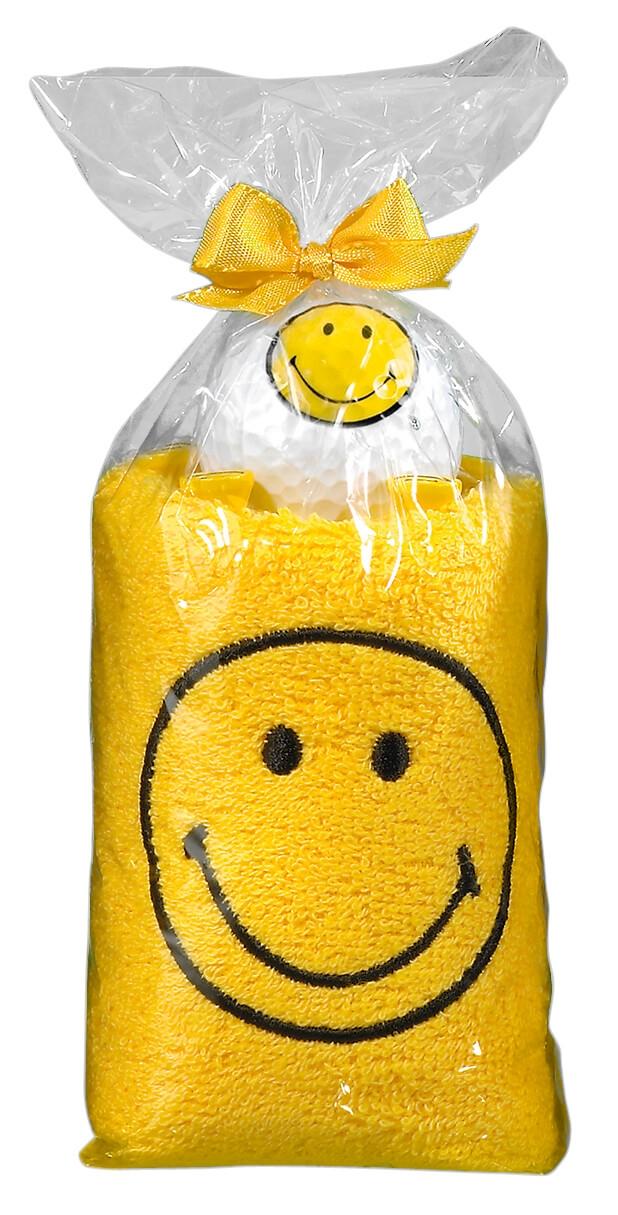 Caddytuch-Rolle Smiley gelb